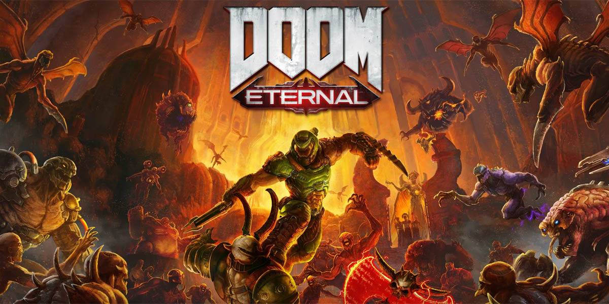Doom Eternal Review Techandising Portada
