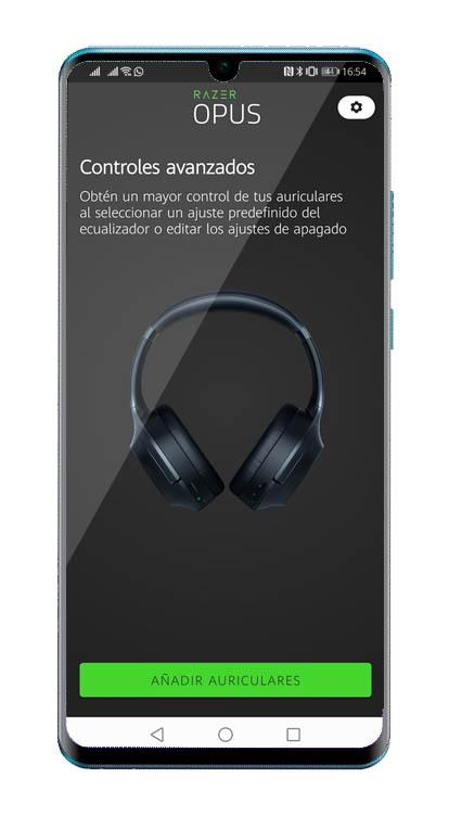 Auriculares con cancelación de ruido Razer Opus Techandising app Android