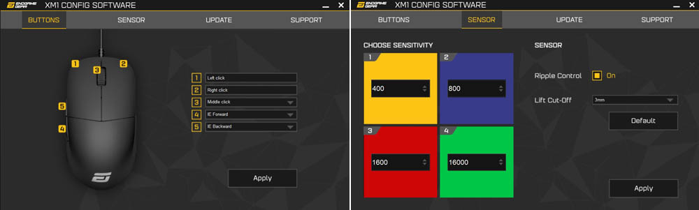 Configuracion Endgame Gear XM1 V2 Techandising
