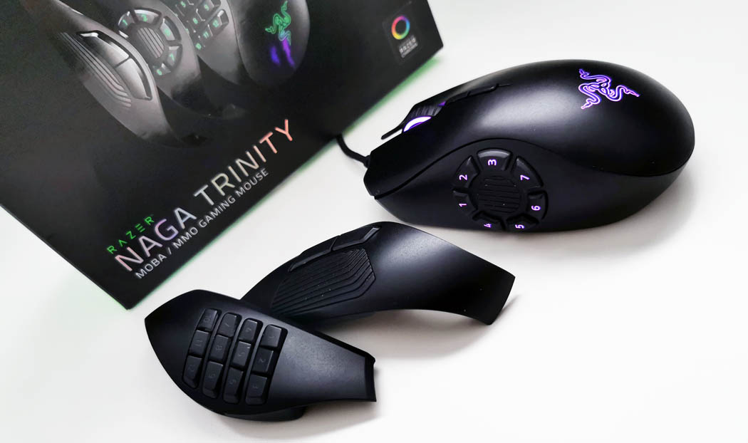 Review Razer Naga Trinity - paneles Techandising