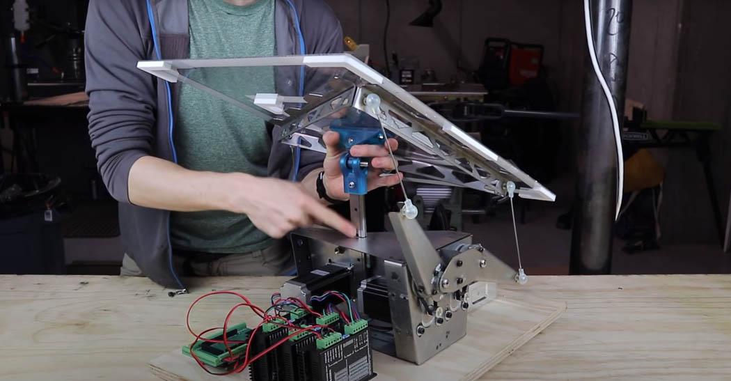 Canasta automatica Techandising estructura