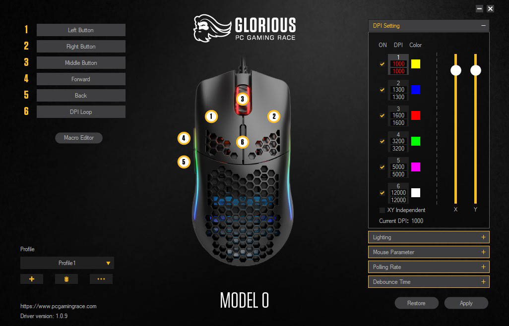 Review Glorious Model O Techandising - software