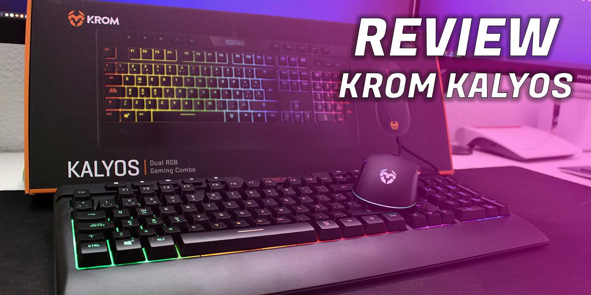 Review Krom Kalyos teclado y raton Techandising - Portada
